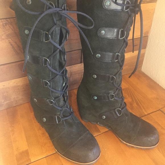 b0308a19ebb Sorel Joan of Arctic Wedge Tall Boots. M 5b2295c13e0caa9843b006b3